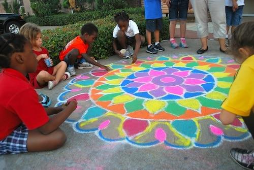 Image result for  kids chalk art
